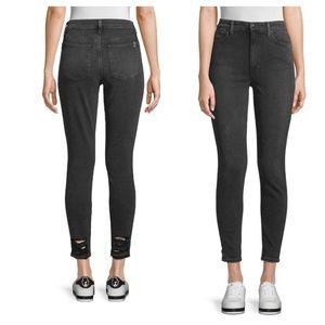Joe's high waisted crop jeans raw hem